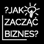 logo Jak zacząć biznes białe