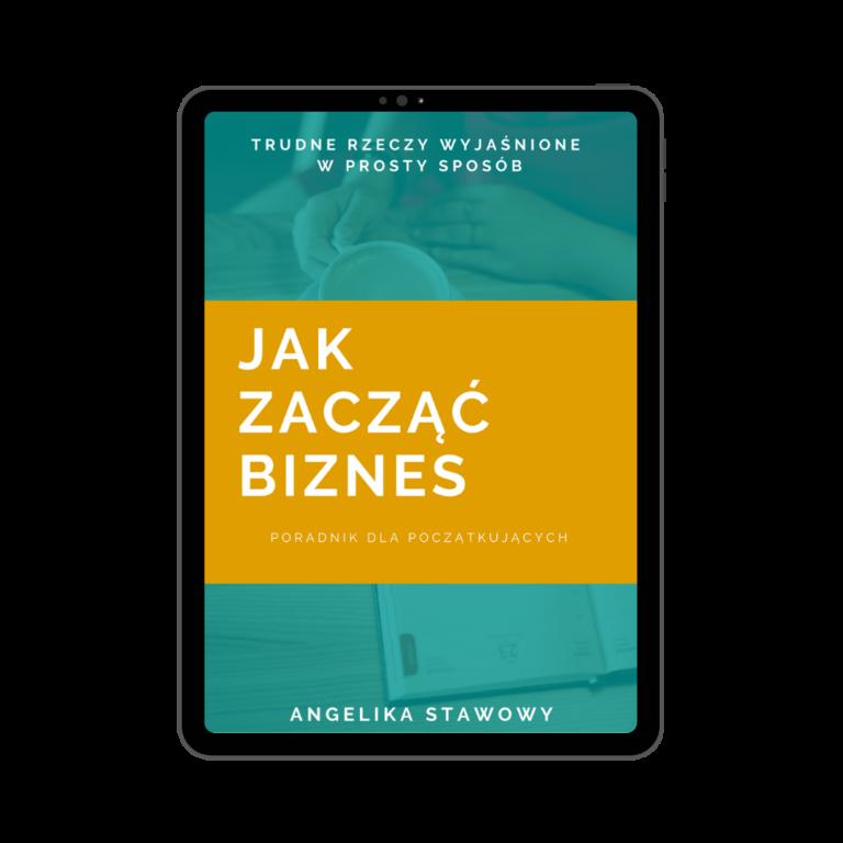 """Okładka E-booka """"Jak zacząć biznes""""."""